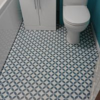 Laminate flooring in bathroom fitted by The Carpet Store Brandon