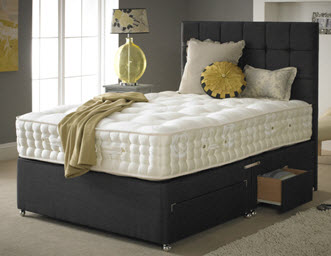 Hamilton and James bed with storage drawers at the carpet store Brandon