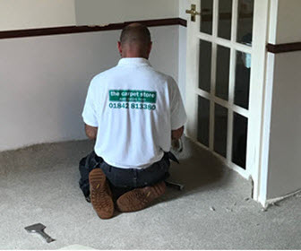 Carpet and flooring fitting service by The Carpet Store Brandon