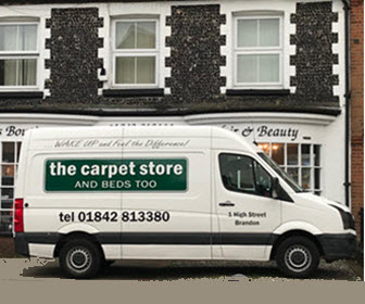 Free local van delivery of carpets and flooring by The Carpet Store Brandon